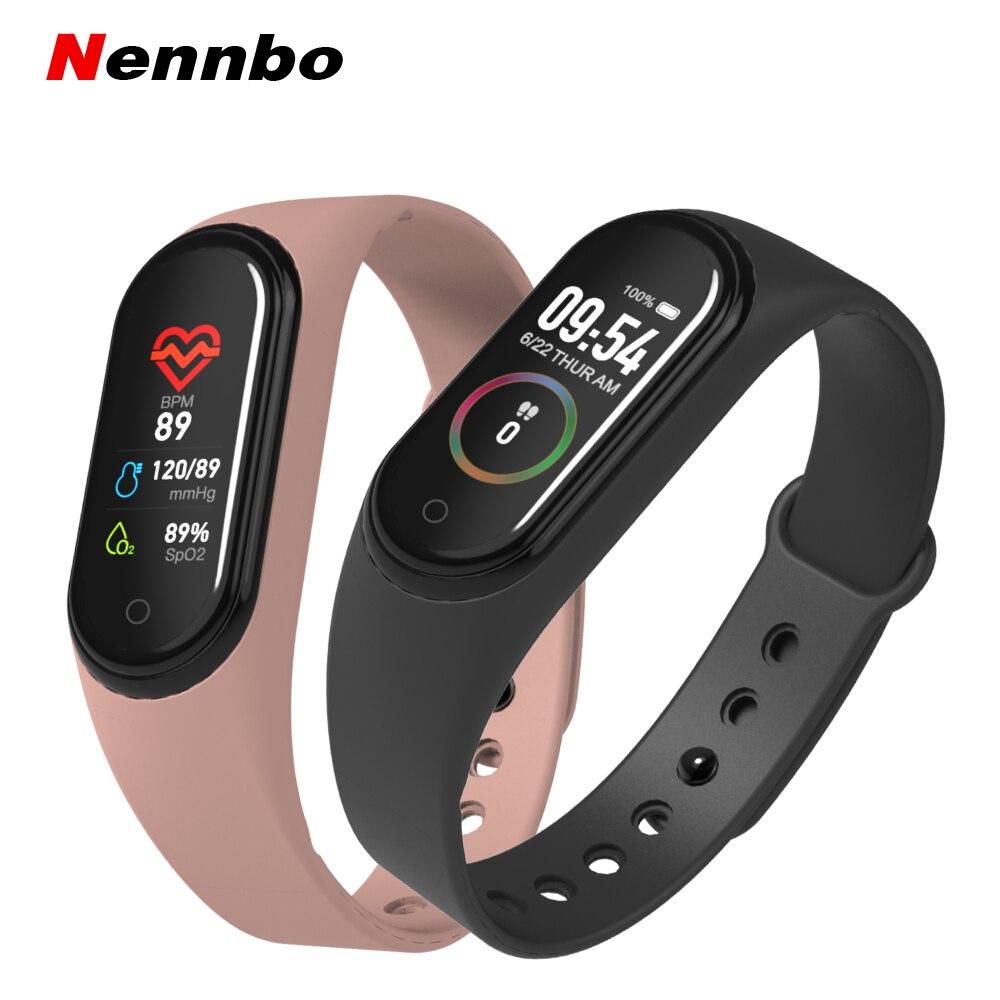 M4 Smart Band Wristbands Pressure/Heart Rate/Sleep Health Monitor/Pedometer Waterproof Sports Bracelet Fitness Tracker