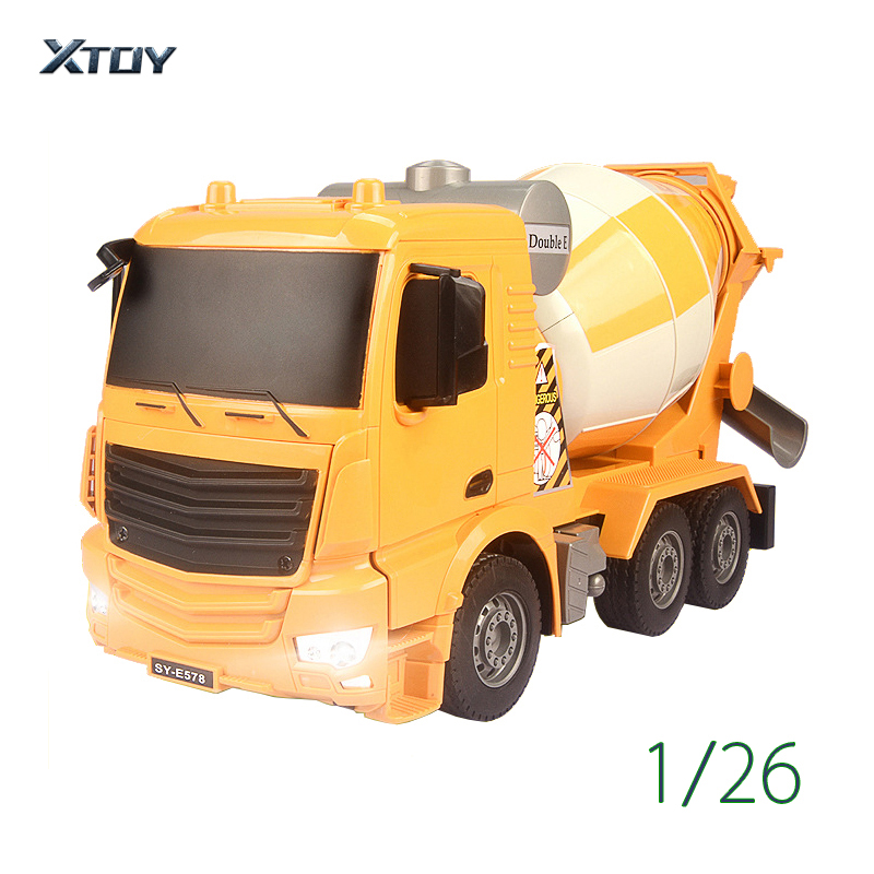RC Truck 2.4G Remote Control Machine <font><b>1</b></font>:26 Radio Controlled Car with battery Cement Mixer Dump Truck Model Toys image