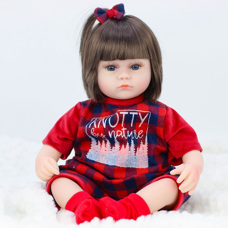 JULY'S SONG 42CM Baby Reborn Dolls Soft Vinyl Toys For Girls Adorable Reborn Baby Girl Realistic Newborn Birthday Present Doll