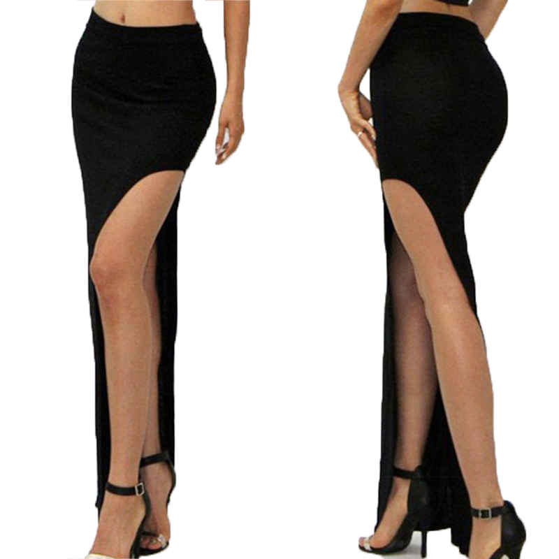2020 Women Side Split Sexy Skirts Ladies Long Skirts  Spring Summer Women Casual Slim Pencil Skirts 5 Colors 846650