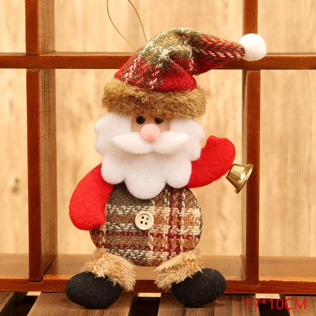 New Year 2020 Cute Santa Claus/Snowman/Angel Christmas Dolls Noel Christmas Tree Decoration for Home Xmas Navidad 2019 Kids Gift 43
