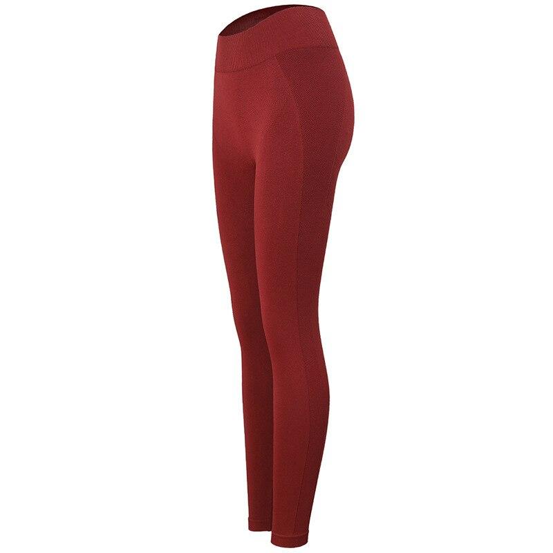 2019 miel pêche musculation pantalon femme lettre fermer Slim hanche pantalon courir mouvement Yoga pantalon Leggins Sport femmes Fitness Leggings - 5