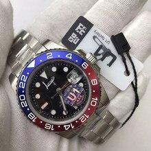 Reloj de lujo para hombres, pulsera automática de lujo, color rojo y azul, GMT master II, U1