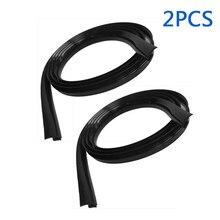 2pcs new Black Car Ageing Ethylene Propylene Rubber Seal Front Windshield Panel Sealed Trim Moulding Strips 1.7m