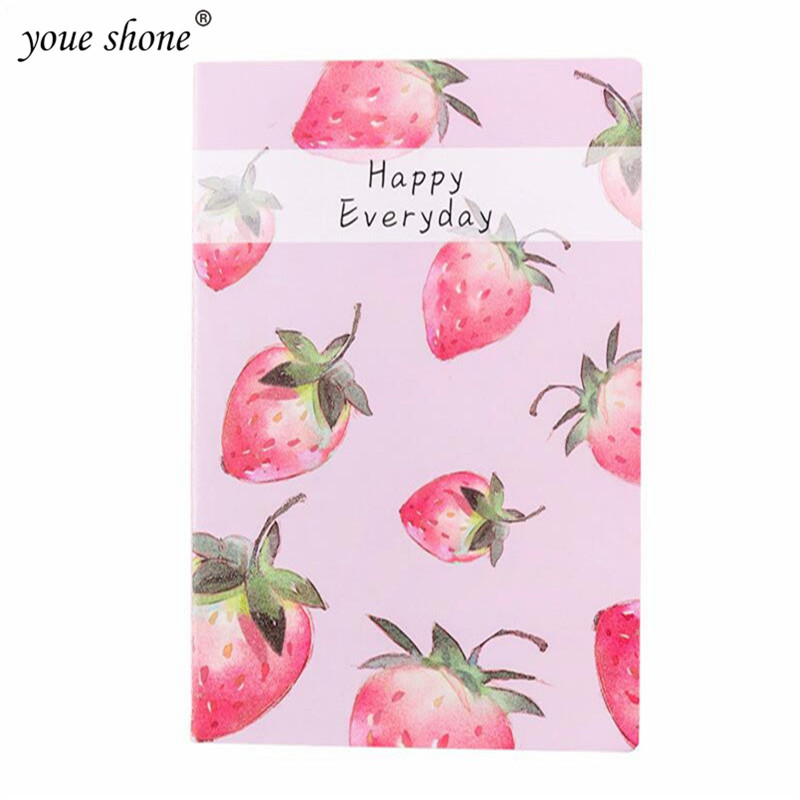 Youe Shone 1pcs Small Fresh A5 Fruit Notebook Cute Student Soft Face Copy Notebook Diary Book Student School Supplies