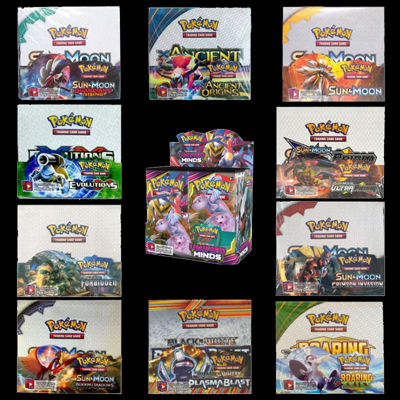 324PCS/SET Pokemon TCG English Edition Card Energy Card Prop Card Pikamon Pokemon Lost Thunder Supplement Pack Kids Toy Gift image