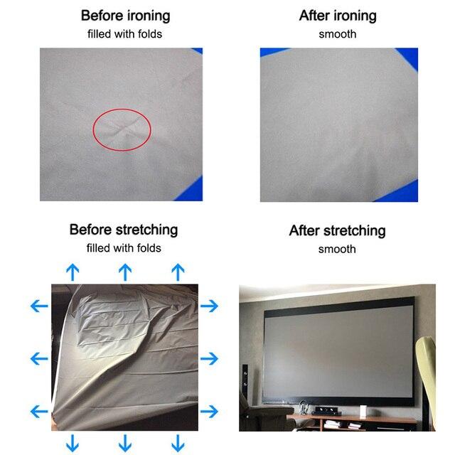 Yovanxer Projector Screen 72 84 100 120 130 133 inch Reflective Fabric for XGIMI Xiaomi JMGO mini Projectors Enhance Brightness 4
