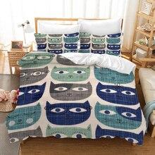 Cartoon Children Bedding Set Duvet Covers Pillowcases Fish Deer Cat Girl 120g Comforter Sets Bedclothes Bed Linen