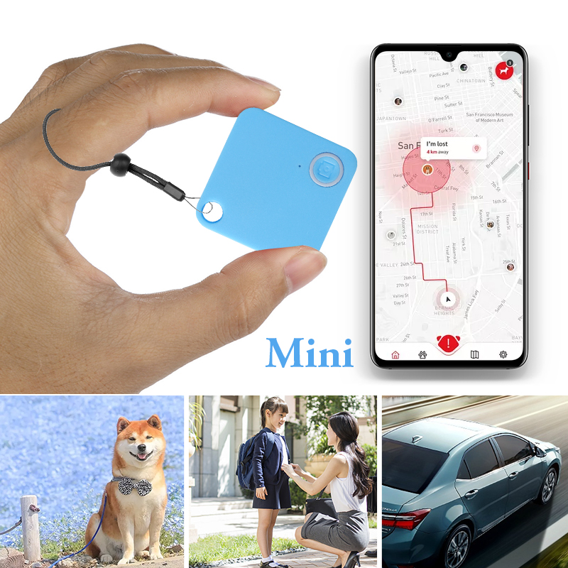 1 Pcs Ultra Mini GPS Tracker Tracking Bluetooth Locator Alarm Magnetic For RV ATV Camper Boat Yacht Car Motorbike Etc 38x38x7mm