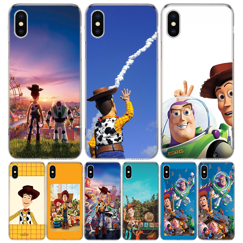 <font><b>Toy</b></font> <font><b>Story</b></font> Cover Phone Case For <font><b>iPhone</b></font> 11 Pro 7 <font><b>6</b></font> X 8 6S Plus XS MAX + XR 5S SE 10 Ten Art TPU Coque <font><b>Capa</b></font> Shell image