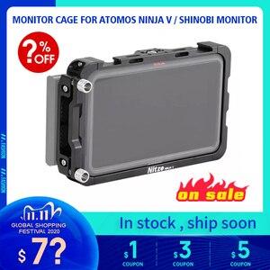 """Image 1 - CAGE pour moniteur NITZE 5 """"pour moniteur ATOMOS NINJA V / SHINOBI avec serre câble HDMI TP NINJA V"""