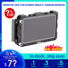 "NITZE 5"" MONITOR CAGE FOR ATOMOS NINJA V / SHINOBI MONITOR WITH HDMI CABLE CLAMP   TP NINJA V"