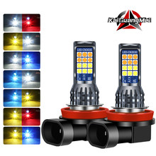 2Pcs H8 H11 Led Lampen Led 9005 9006 3030 24 Smd Auto Mistlicht Led Koplamp Lampen Lamp h3 H4 H7 Led Mistlamp Dc 12V
