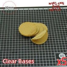 Wargame base world-bases transparentes/claras para miniaturas-32mm bases claras
