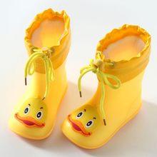 ARLONEET OChildren erkek lastik çizmeler çocuk çizmeleri PVC bebek kız jöle sevimli ilmek yağmur ayakkabıları su geçirmez yarım çizmeler