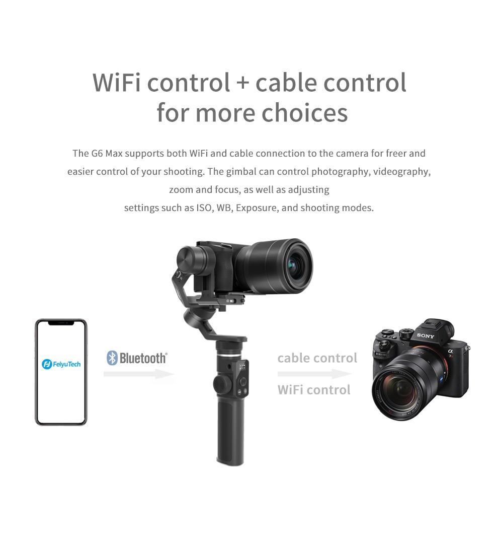 3-Axis G6 Max Handheld Gimbal Camera Stabilizer