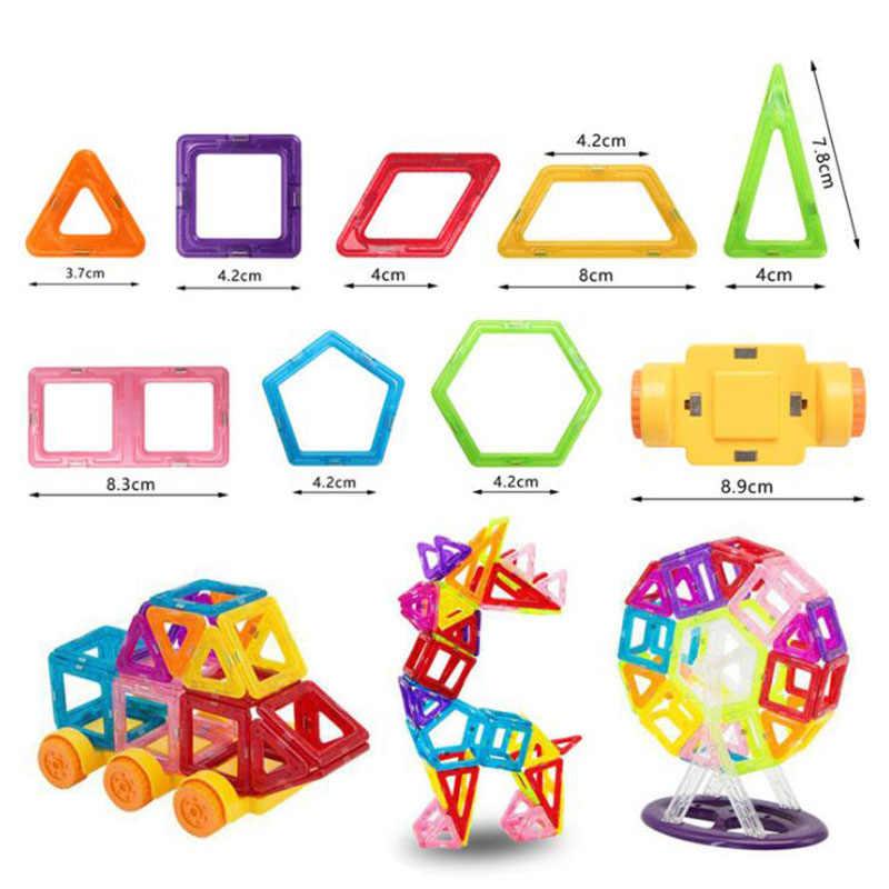 40-160 قطعة صغيرة المغناطيسي اللبنات DIY بها بنفسك ثلاثية الأبعاد المغناطيسي مصمم ألعاب تعليمية البناء الطوب هدية عيد ميلاد