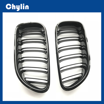2PCS 2-Slat ABS Gloss Black Kidney Racing Grille For BMW 2012 2013 2014 2015 2016 2017 M6 640i 650i F06 F12 F13 Car accessories image