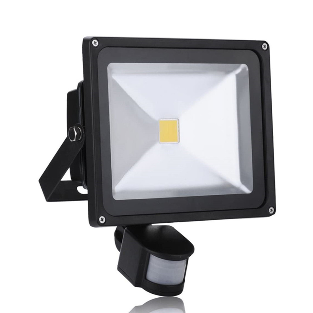 20W 30W 50W PIR Motion Sensor LED Outdoor Floodlight 185V-265V Waterproof Led Spotlight For Garden Wall Street Light Warm Cold