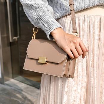 Bag Women's 2020 New Style WOMEN'S Leather Bags One-Shoulder Cowhide Square Sling Bag Fashion Shoulder Bag