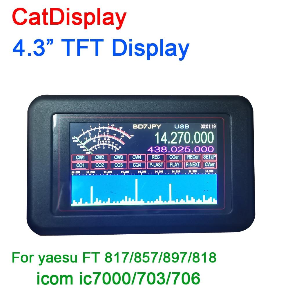 Tüketici Elektroniği'ten Pil Aksesuarları'de DYKB CatDisplay 4.3 TFT ekran kayıt ses otomatik çağrı kedi yaesu ft817/857/897/818 icom ic7000/703/706 756 718 title=