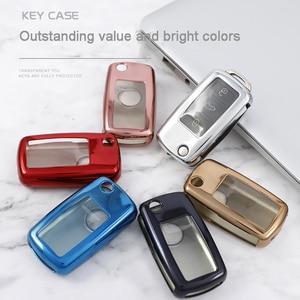 Image 3 - Funda protectora para llave de coche de TPU, funda protectora para llave de coche para nuevo Passat VW Lavida coche Tiguan, accesorios de estilismo para coche de colores