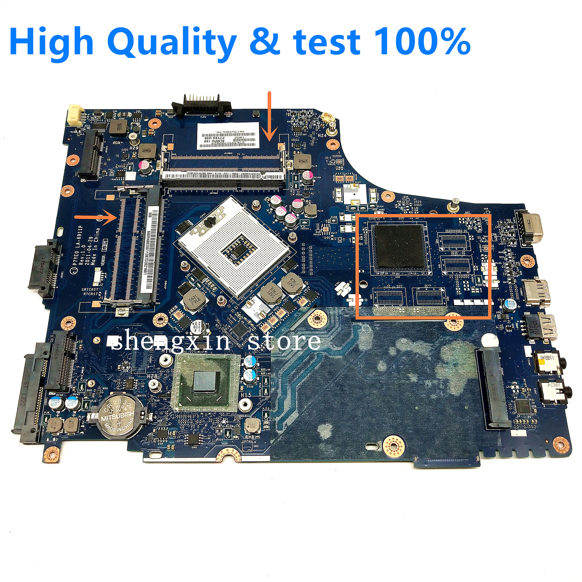 For Acer Aspire 7750 7750G Laptop Motherboard MBRN802001 P7YE0 LA-6911P Mainboard