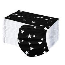 10-100pc descartável preto cinco-face estrela impressão máscara protetora poeira à prova de vento boca tampões não tecido máscara facial descartável