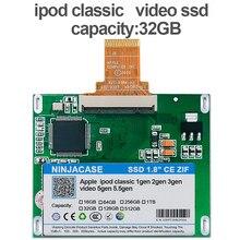 Novo 1.8 polegada ssd 32g sólido estado drivese para ipod clássico 7gen 160 gb substituir mk1634gal mk1231gal hs12yha mk801gah mk8010gah