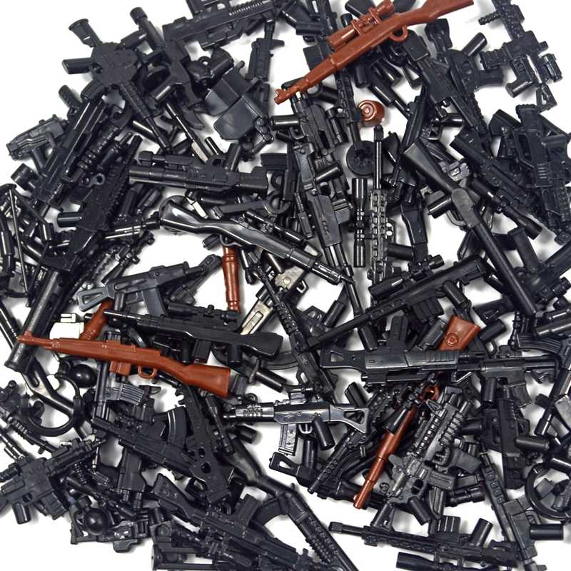 98K الأسلحة العسكرية الملحقات صندوق الطوب سوات قناص بندقية مسدس الجندي WW2 الجيش MOC جزء العسكرية بنة نموذج البنادق