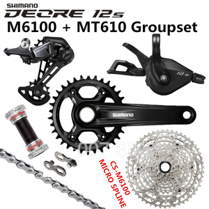 Image 3 - Shimano Deore M6100 Groepset 34T 32T Crankstel Mountainbike Groepset 1x12 Speed 10 51T 11 51T M6100 Groepset + MT610 Crank