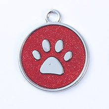 Aluminum Alloy Cute Footprint Pet Tag Lovely Dog Harness Identity Card Anti-Lost Frame Card Cute Pet Accessories(China)