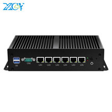 XCY Firewall Router VPN Mini komputer Intel Core i3 7100U Pentium 4405U 6x Gigabit Ethernet Intel i211 NIC RS232 Pfsense Linux bez wentylatora(China)