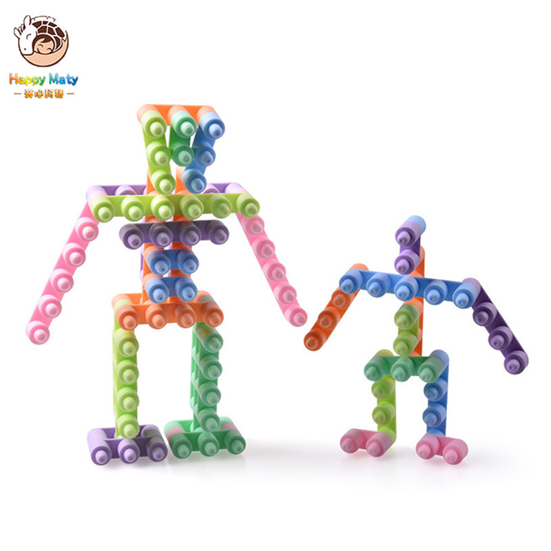 36pcs lot three dimensional fun assembled robot 3D building blocks Kits DIY toy bricks educational toys for children gift in Blocks from Toys Hobbies