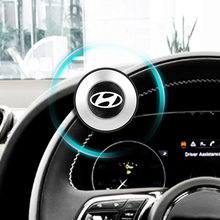 Car Steering Wheel Booster Silicone Power Knob Suicide Spinner Handle For Hyundai Santa Fe Sonata Solaris Azera Creta I30 Ix25
