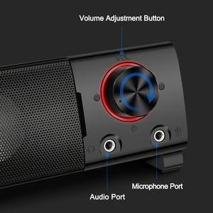 Image 5 - Redragon GS550 aux 3.5mm 스테레오 서라운드 음악 스마트 스피커 칼럼 사운드 바 컴퓨터 PC 홈 노트북 TV 라우드 스피커