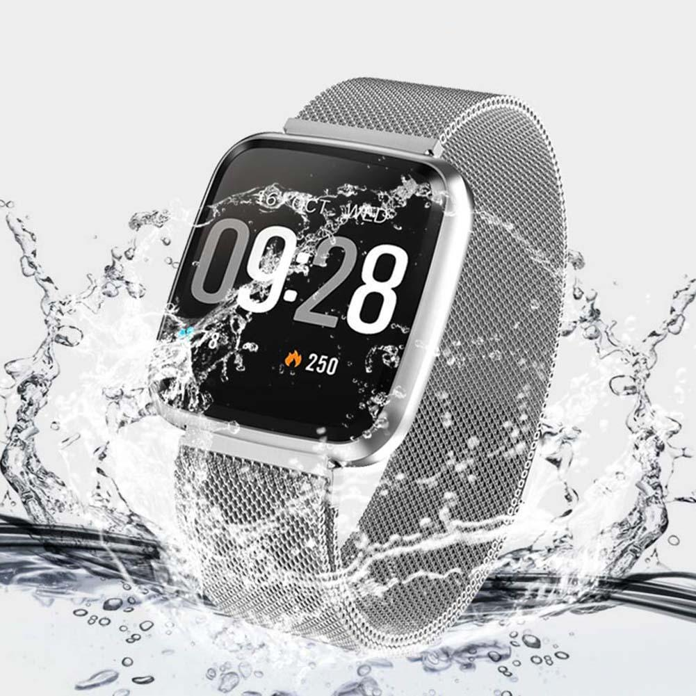 Watch Sports-Bracelet Screen-Touch Multi-Function Waterproof Smart Color Y7 with Metal-Strap