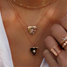 Fashion Charm Simple Bohemian Multilayer Necklace Heart Pendant Gold Necklace Jewelry Accessories Necklace 2019 New Hot Sale цена 2017