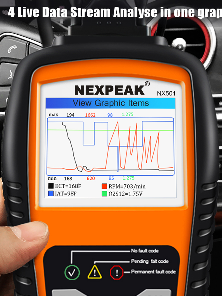 Nexpeak Car-Scanner Auto-Diagnostic-Tool ODB2 Launch Cr5001 OBD2 Better Than Full-Odb