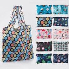 Корейская цветная тканевая складная сумка для покупок, сумка из ткани Оксфорд, сумка через плечо, Экологичная сумка, кошелек, складная водонепроницаемая сумка