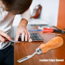 Кожа ремесло край режущая лопатка легкая и нежная древесина Ручка DIY практичная экономия ручной работы кожа инструменты для резьбы