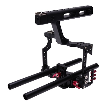 Anti-slip Design Professional DSLR Camera Video Cage Kit CNC Durable Stabilizer for GH4 A7S A7 A7R A7RII A7SII