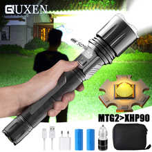 Brighter Upgrade MTG2 LED Flashlight Tactical Torch USB Input&Output Function Waterproof Zoom Hunting Light for Outdoor Lighting