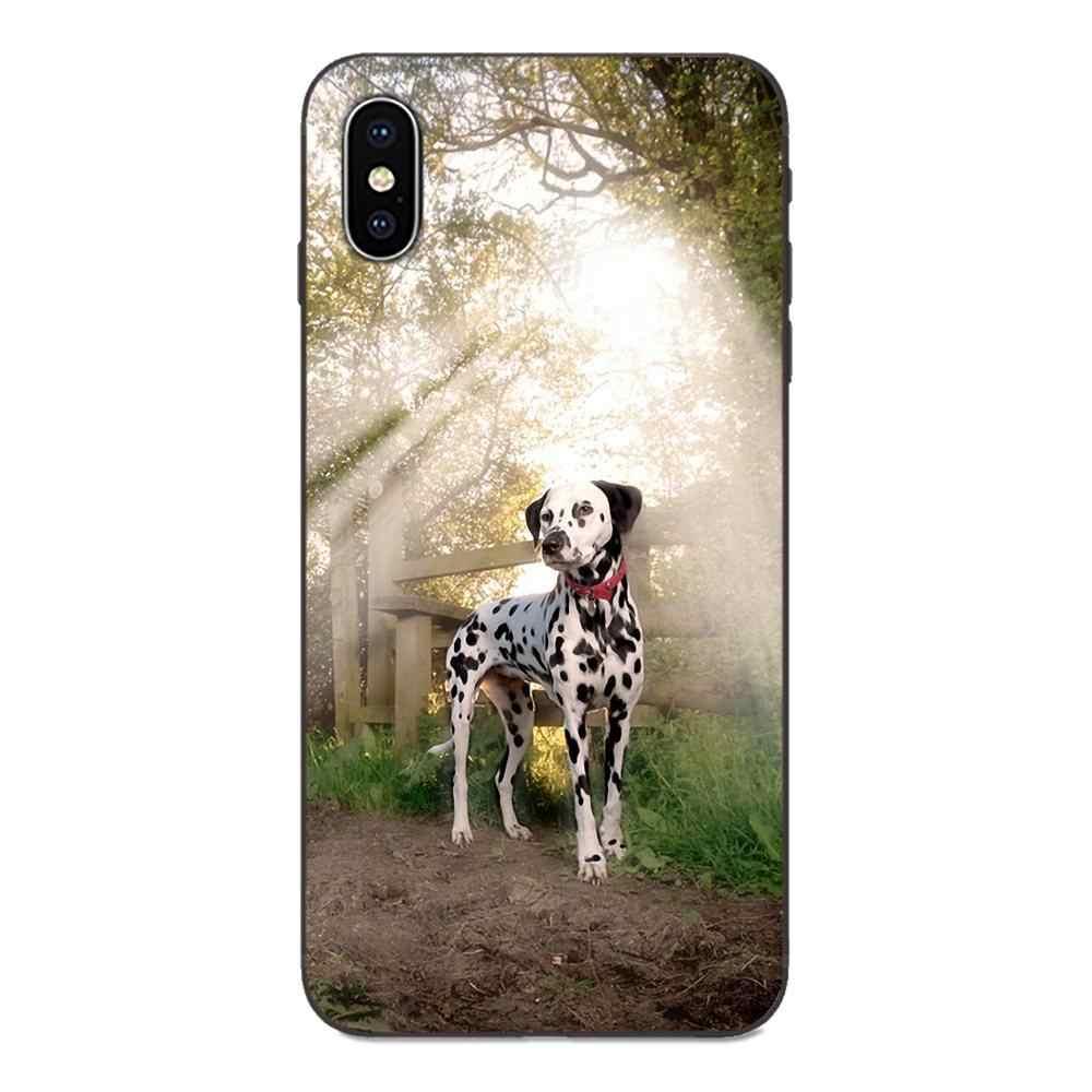 Mềm Mại Nghệ Thuật In Cover Chó Đốm Chó Con Nghệ Thuật Cho Apple iPhone 4 4s 5 5s SE 6 6S 7 8 Plus X XS Max XR