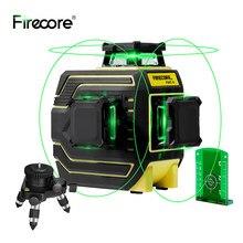 FIRECORE – niveau Laser vert 3D 12 lignes, nivellement automatique IP65 avec trépied récepteur 1.5/1.56/2/3M