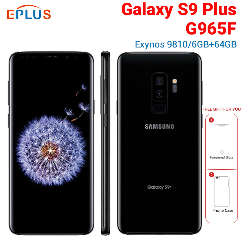New Global Version Samsung Galaxy s9+ S9 Plus G965F 6GB <font><b>64GB</b></font> Mobile Phone 4G LTE 6.2