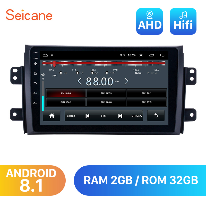 Seicane <font><b>Android</b></font> 8.1 2din Car Head Unit Player For 2006 2007 <font><b>2008</b></font> 2009 2010 2011 2012 <font><b>Suzuki</b></font> <font><b>SX4</b></font> Radio GPS Navi Mirror link wifi image