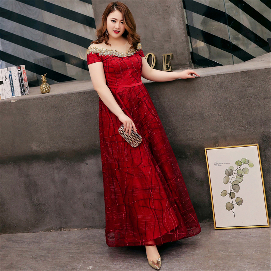 Womens Plus Size Burgundy Pleated Floor Length Gown with Boat Neckline 1X NEW