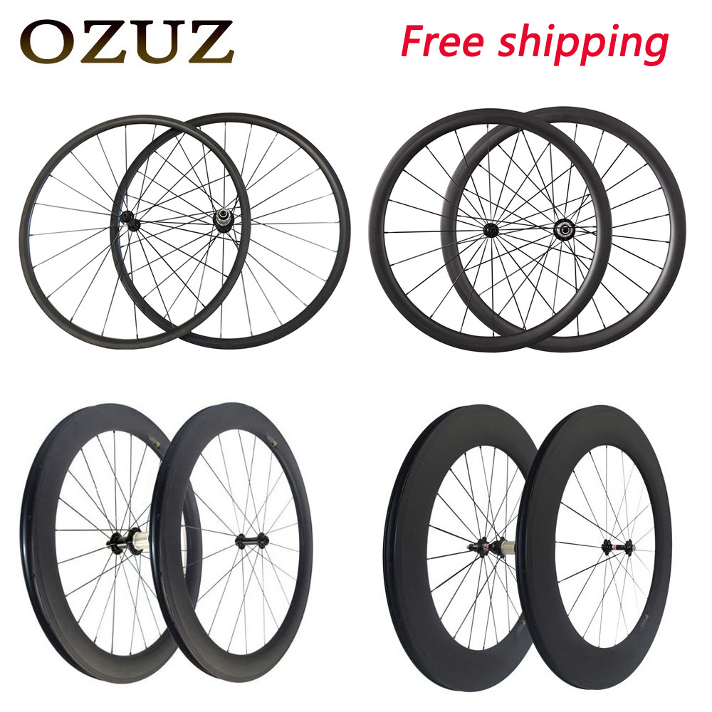Super Light Standard Powerway R13 Carbon Bicycle Wheels 24 38 50 88 mm Depth Clincher Tubular Road Bike Wheelset 700C 3K