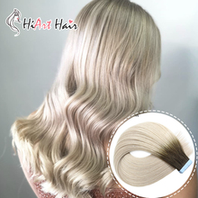 HiArt 2.5g Tape Hair Extrensions In Human Remy Hair Salon Double Drawn Hair Extensions Tape Balayage Hair Tape Straught Hair